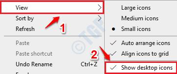 1 Mostrar iconos de escritorio