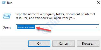 Ejecute Command Services.msc Enter
