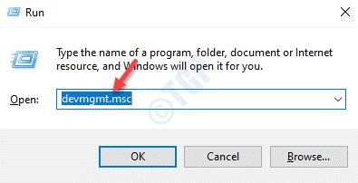 Ejecute el comando Devmgmt.msc Enter