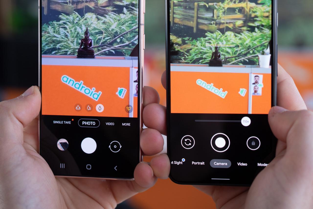Samsung Galaxy S21 frente a Google Pixel 5