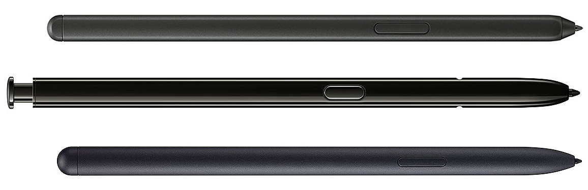 De arriba a abajo - Galaxy S21 Ultra vs Note 20 Ultra vs Tab S7 modelos de lápiz óptico S Pen - Soporte del lápiz óptico S Pen en Galaxy S21 Ultra: características, precio, estuches compatibles