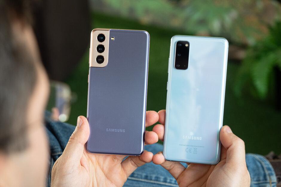 Izquierda: Galaxy S21; Derecha - Galaxy S20 - Review del Samsung Galaxy S21