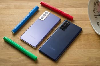 Samsung Galaxy S21 frente a Galaxy S20 FE