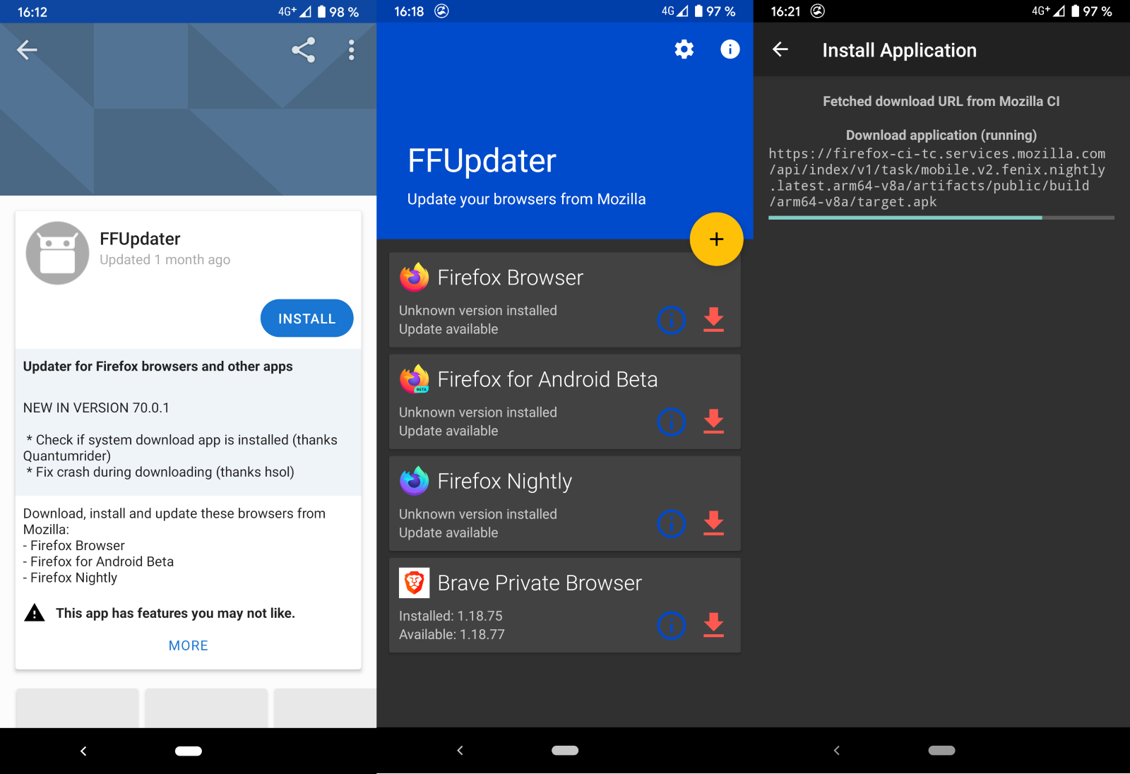 actualizador firefox android