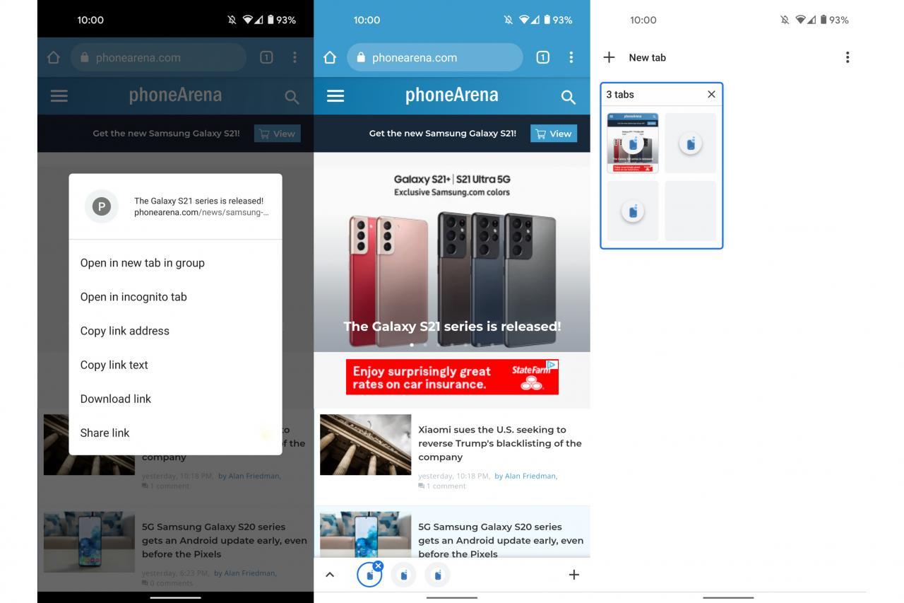 La agrupación de pestañas llega a Chrome para Android: cómo utilizar esta nueva y poderosa función