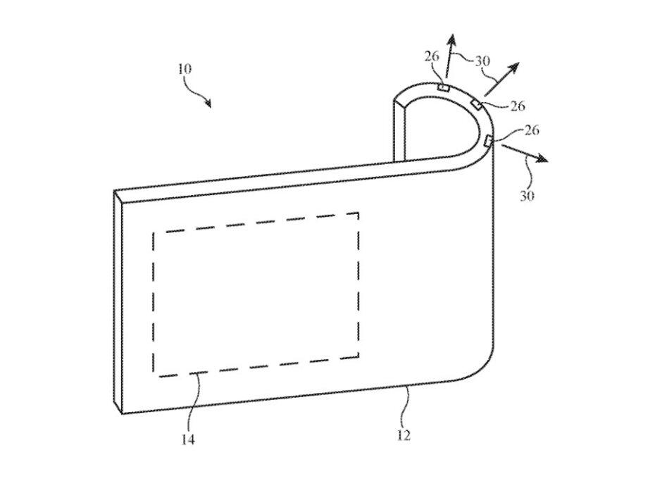 Ilustración de la solicitud de patente de Apple para un sistema de cámara flexible: el sistema de cámara para un iPhone plegable aparece en la solicitud de patente de Apple
