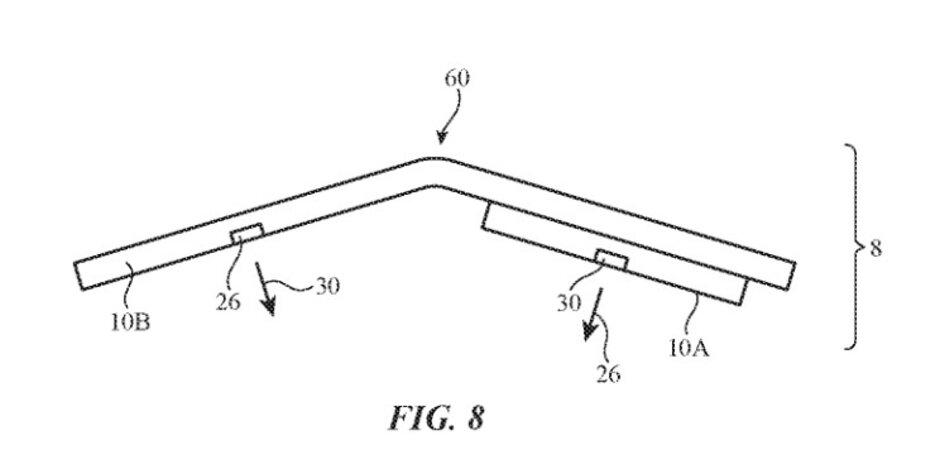 Otra ilustración de la patente: el sistema de cámara para un iPhone plegable aparece en la solicitud de patente de Apple