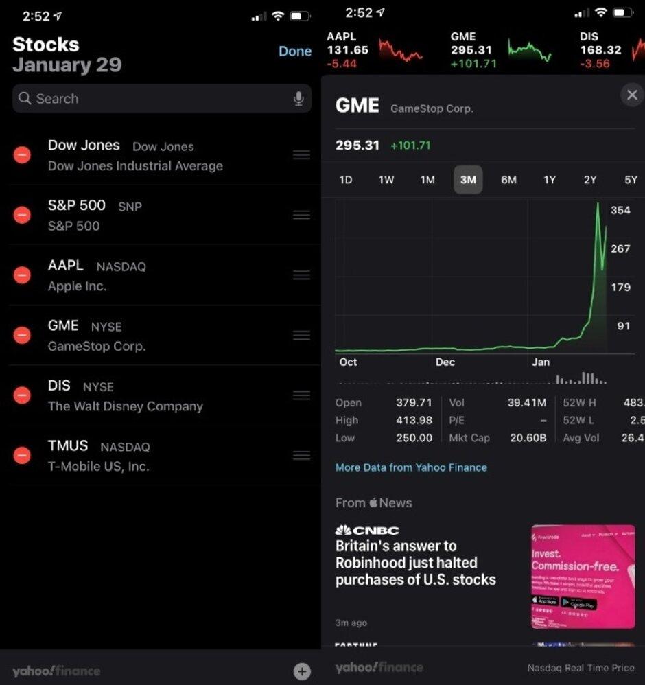 La aplicación de acciones nativa de iOS incluye precios y gráficos: el papel de la tecnología móvil en la actual moda de inversión
