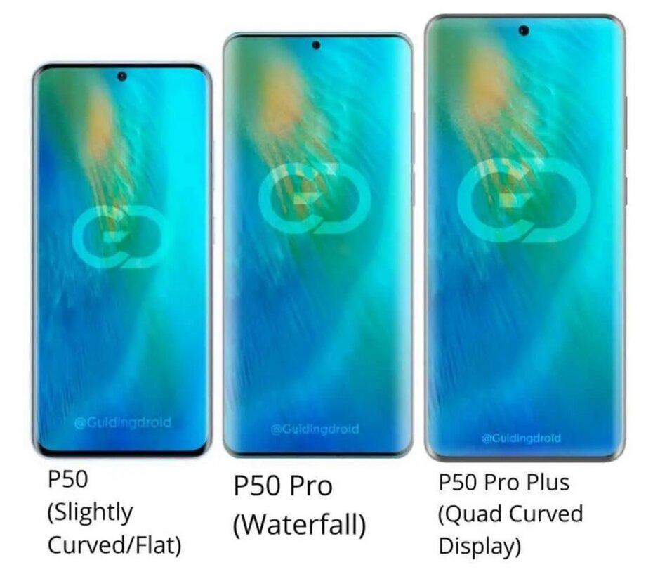 Renders de la próxima serie Huawei P50 - Es posible que el nuevo alguacil en la ciudad no revierta instantáneamente las acciones de EE. UU. Contra Huawei