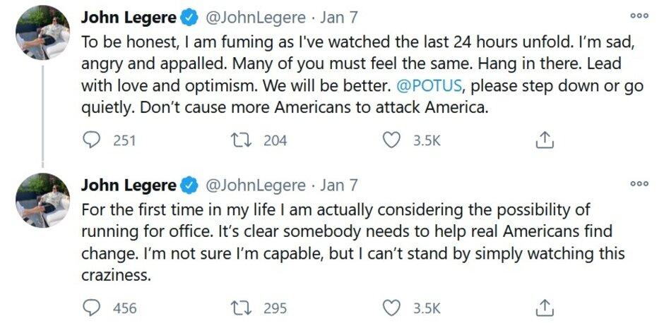 John Legere dice que podría postularse para un cargo. ¿John Legere para presidente?
