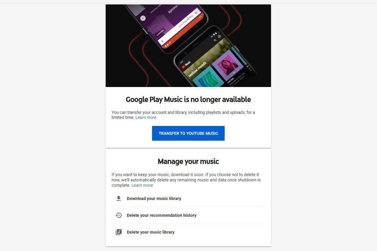 Actúa rápido: obtén tus datos de Play Music antes de que Google los elimine a finales de este mes