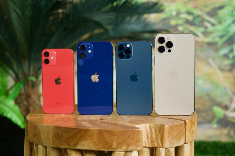 La familia 5G Apple iPhone 12 con el mini en el extremo izquierdo: se informa que Apple detendrá la producción de 5G iPhone 12 el próximo trimestre