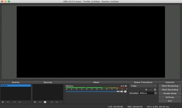 OBS: grabadoras de pantalla para Mac