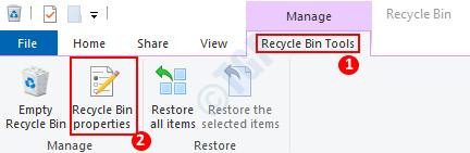 Propiedades de la papelera de reciclaje