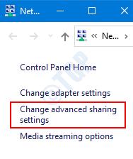 Cambiar la configuración de uso compartido avanzado