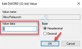 Editar Dword (32 bits) Valor Valor Datos 0 Ok