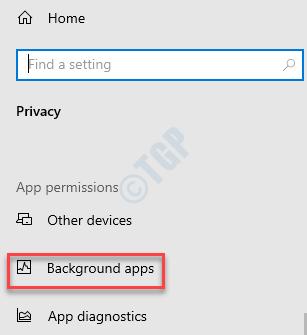 Configuración Privacidad Aplicaciones en segundo plano