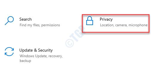 Configuración Privacidad