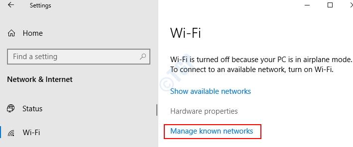 Administrar redes conocidas mín.