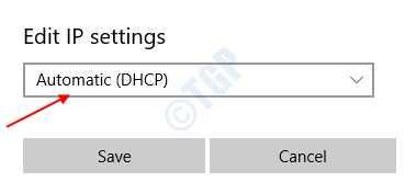 Dhcp automático
