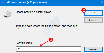 Ventana del controlador de impresora
