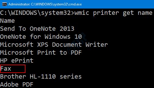 Impresora encendida en Cmd