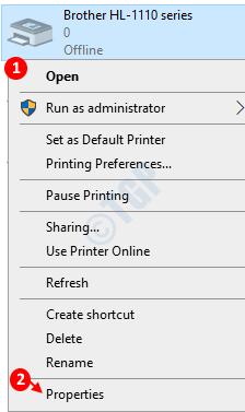 Propiedades de la impresora