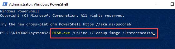 Windows Powershell (admin) Ejecutar el comando Ejecutar Dism