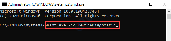 Símbolo del sistema (admin) Ejecutar el diagnóstico del dispositivo Commabd Enter