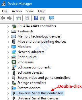 Haga doble clic en USB