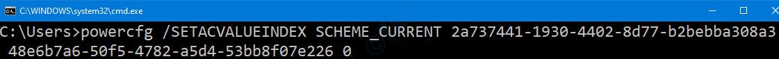 Cmd Desactivar conectado