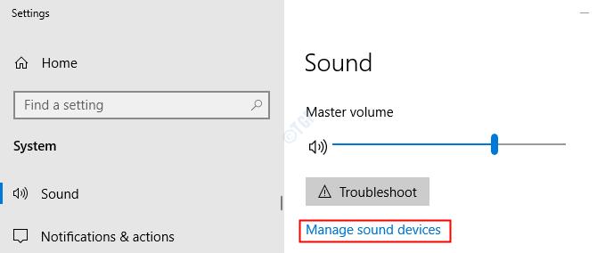 Administrar dispositivos de sonido