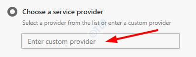 Detalles del servidor personalizado