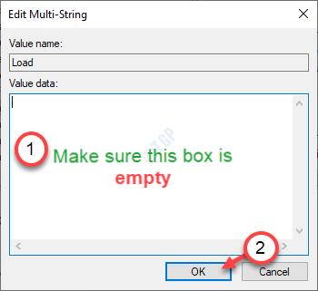 Asegúrese de que esta caja esté vacía como mínimo