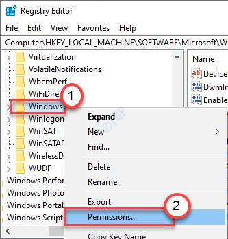Permiso mínimo de Windows
