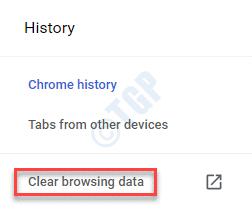 Historial de Chrome Borrar datos de navegación