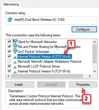 Propiedades de Wifi Propiedades del Protocolo de Internet de red Versión 4