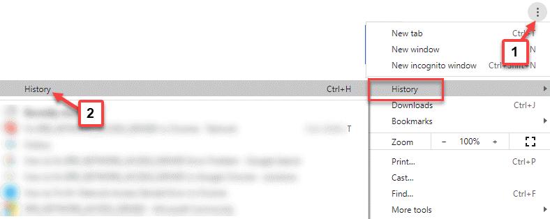 Historia de Chrome Three Vertical Dots