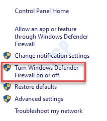 Firewall de Windows Defender Activar o desactivar el Firewall de Windows Defender
