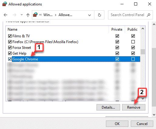Aplicaciones permitidas Google Chrome Eliminar