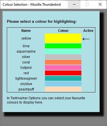 Cambiar el color en el marcador de texto