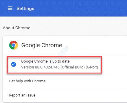 Configuración sobre Chrome