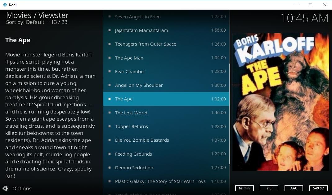 Complementos de Kodi 1080p - Viewster