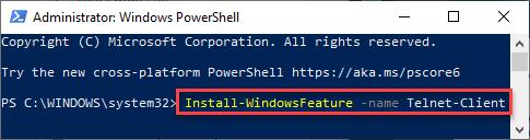 Instalar Windows Feature Min