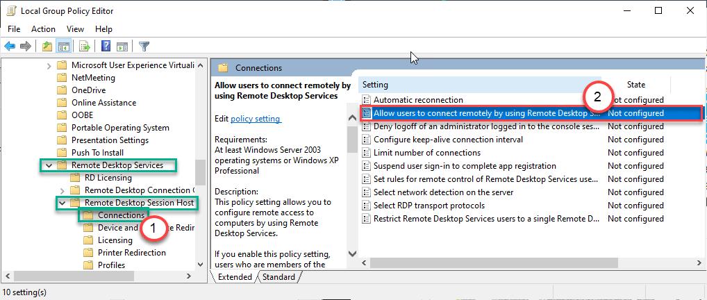 Permitir usuarios Dc Min