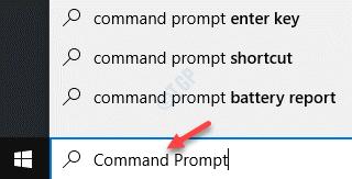 Iniciar el símbolo del sistema de búsqueda de Windows