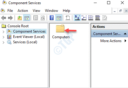 Servicios de componentes Computadoras del lado derecho