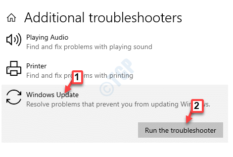 Solucionadores de problemas adicionales Iniciar y ejecutar Windows Update Ejecutar el solucionador de problemas