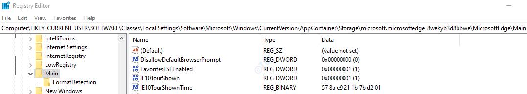 Configuración del registro