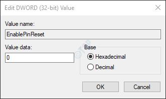 establecer valor 0
